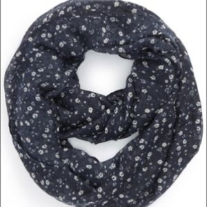 BP Daisy Ditsy Infinity Scarf Navy with Flowers